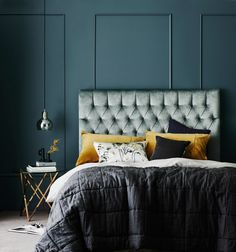 Heatherly Design offers a simply stunning range of upholstered bedheads, fully upholstered beds, footstools & storage boxes for the discerning designer Bedhead Design, Townhouse Interior, Upholstered Beds, King Beds, Beautiful Bedrooms, Bed Frame, Master Bedroom, Lux Bedroom, Bedroom Ideas