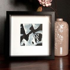 Original framed mini abstract black box frame white mount original framed mini abstract black box frame white mount beautiful gift box blue heart ribbons rustic gingham ribbons valentines wall art by fuzzy negle Choice Image