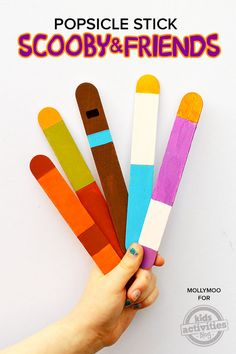 Scooby Doo Crafts – Popsicle Stick Dolls {Free Printable Color Wheel} - fun crafts for kids!