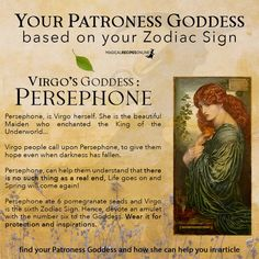 Find Your Zodiac Sign, Zodiac Signs Virgo, Occult Art, Witchcraft, Wiccan, Pomegranate Seeds, Persephone, Life Goes On, Gods And Goddesses