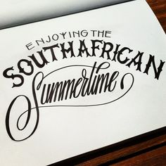 Sketching and enjoying the South African Summertime!