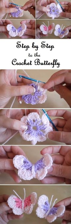 Crochet Butterfly - Step by Step tutorial