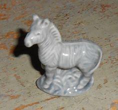 Vintage Figurine Wade England Zebra Blue Red Rose by TheBackShak, $4.50