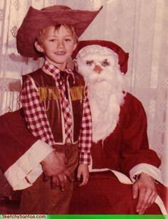 WTF is Santa wearing? Is he a yetti