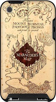 Marauders Map Ipod Case by Rachel Miller