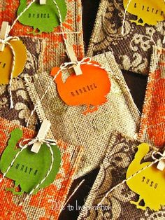Thanksgiving Favors and Place Setting Cards