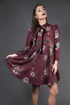 e499435589ae High neck smock dress in floral