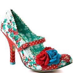 Irregular Choice   Cortesan Floral Too - Red