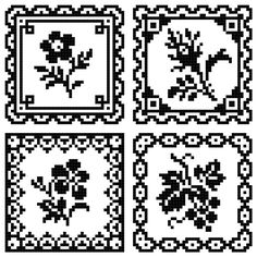 Cross stitch and needlework patterns Tiny Cross Stitch, Cross Stitch Boards, Cross Stitch Samplers, Cross Stitch Flowers, Cross Stitch Embroidery, Cross Stitch Patterns, Filet Crochet Charts, Knitting Charts, Blackwork