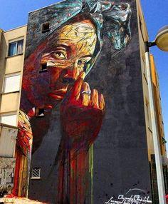 Hopare in Lisbon, Portugal, street art 2016