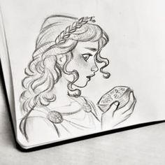 As some of you have guessed, she's Persephone, goddess of spring and queen of the underworld :) I am glad that some of you got it right away and showed some real interest in greek mythology! Always love your feedback💕 #persephone #sketch #art #artistsoninstagram #drawing #kore #proserpina #hades #greekmythology #mythology #goddess #spring #pomegranate