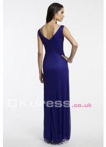 Blue V-Neck Dress