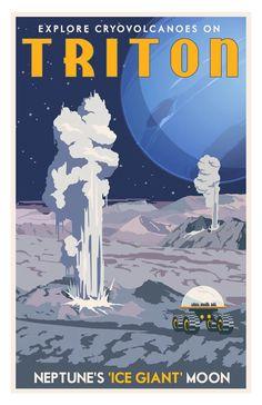 Vintage posters for space travel. Arte Sci Fi, Sci Fi Art, Space Tourism, Space Travel, Vintage Space, Vintage Moon, Vintage Art Prints, Science Fiction Art, Vintage Travel Posters