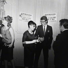 1965 - Yves Saint Laurent, Pierre Bergé & Edith Head in Beverly Hills