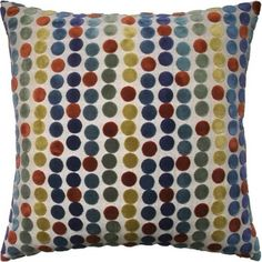 Avery Dots Russet Pillow - Tuvalu Coastal Home Furnishings Down Feather, Coastal Homes, Warm Colors, Home Furnishings, Dots, Throw Pillows, Curtains, Quilts, Interior