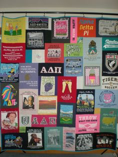 Too Cool TShirt Quilts, Sorority Quilty They made my Theta quilt and my Cheering quilt!! Best out there!!