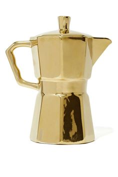 gold coffee pitcher
