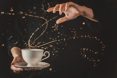 Defying Gravity: How to Shoot 'Twisted' Coffee Splashes - DIY Photography National Coffee Day, Coffee Photography, Food Photography, Levitation Photography, Icecream Photography, Movement Photography, Splash Photography, Defying Gravity, Still Life Photographers