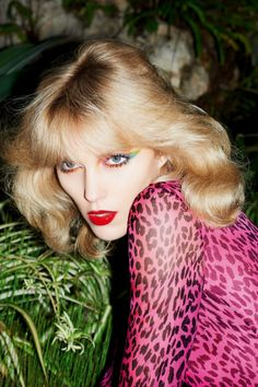 Anja Rubik 70's beauty #blonde