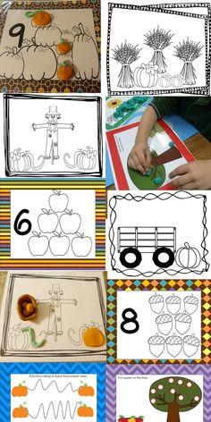 Preschool Playdough Mats Fall editiion  $