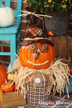 Fall Scarecrow Pumpkin_Giggles Galore