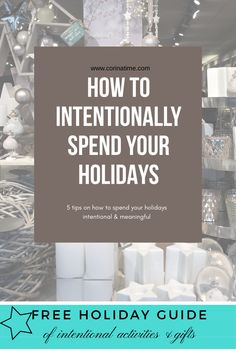 How to intentionally spend the holidays and enjoy this time of year with loved ones. All Things Christmas, Christmas Holidays, Merry Christmas, Family Christmas, Happy Holidays, Minimalist Living, Minimalist Lifestyle, Free Activities, All Family