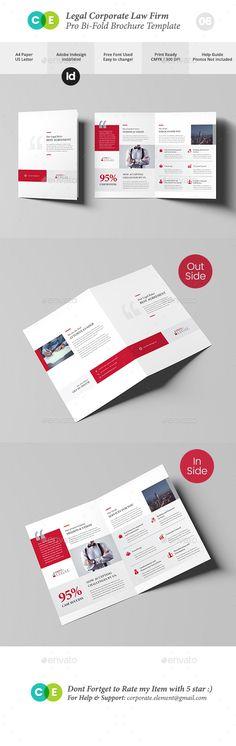 Classic Law Firm Brochure Template Design Pinterest Corporate