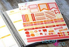 Sunburst Weekly Designer Life Planner Kit Stickers  by Libbieandco