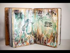 Mixed Media - Imagine - Art Journal Page #7 - YouTube | (We inherited the acceptance of this layered, deliberately obscured mixed media journal from Pop artist, Rauschenberg.)
