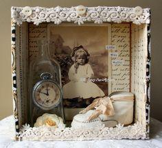 Vintage image in cigar box - too cute