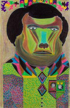 Weree, Johnson; Untitled, 2011, mixed media, 50x32,5 cm