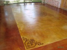 Painted concrete for patio-going to do this after the remodel