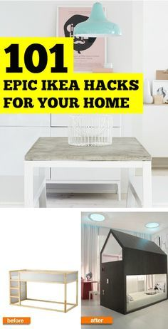 Gorgeous home decor doesn't have to be expensive! Here are 101 epic ikea hacks every homeowner should see. You're welcome! .