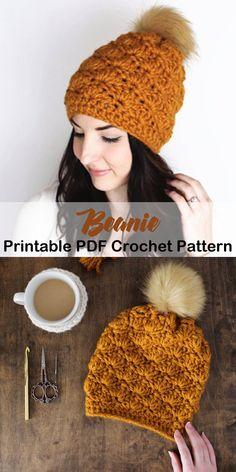 Make a cozy hat with a beginner pattern. Beginner Hat Crochet Patterns – Pattern Tips - A More Crafty Life Easy Crochet Hat, Crochet Winter Hats, Crochet Turtle, Crochet Baby Shoes, Crochet Clothes, Crochet Designs, Crochet Ideas, Crochet Projects, Halloween Crochet