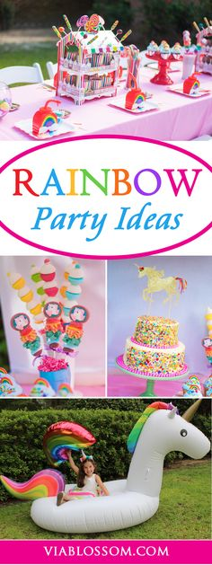 you don't want to miss our Rainbow and Unicorn Party Ideas and Decorations!! They are perfect for your girl's Birthday Party!!