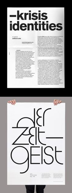"""A good example of how a simple typeface (and a """"plain"""" black-and-white design) can be really impactful."""