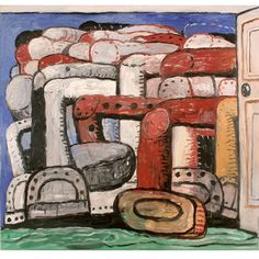 Philip GUSTON  (American, 1913–1980)    oil on canvas  68 x 71 1/2 inches  172.7 x 181.6 cms