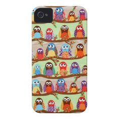 Funky Owls iPhone 4/4S Cases iPhone 4 Cover