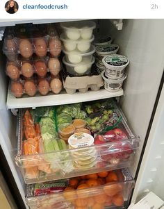 Stock your fridge with healthy food.