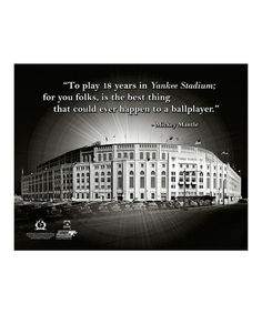 This Mickey Mantle Yankee Stadium Pro Quote Canvas is perfect! #zulilyfinds