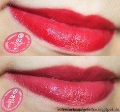 Swatches/Tragebilder: essence longlasting lipsticks #essence #lipstick http://indenfarbtopfgefallen.blogspot.de/2013/09/swatchestragebilder-essence-longlasting.html
