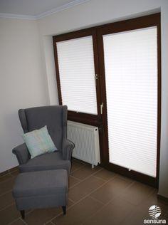 Sichtschutz an der Balkontür mit Plissees von sensuna®