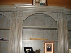 Painted bookcase by Manley Brothers Painting