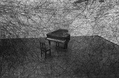 Japanese-born, Berlin-based artist Chiharu Shiota's haunting installations are like beautiful, suffocating spider webs.
