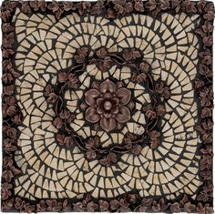Tile Backsplash Metal Medalions Athena Mosaic Tile Backsplash Medallion 12 X12 Mesh Mounted