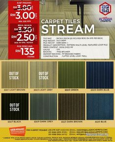 Carpet tiles malaysia offer – free postage to peninsular malaysia