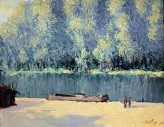 Alfred Sisley - Banks of the Loing, 1891 at the Legion of Honor (Fine Arts Museums of San Francisco CA) by mbell1975, via Flickr