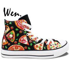 6bbcfb38de308 71.25  Buy now - Wen Original Hand Painted Shoes Design Custom Pizza Color  High Top