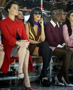 Essex'ee Legs: Rihanna rocks long socks at PFW14. Get the look on the BLOG... over knee socks, knee highs, long socks