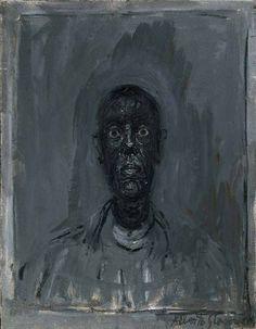 Alberto Giacometti: Head of Diego (1961) oil on canvas